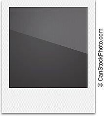 Retro Photo Frame Polaroid On White Background. Vector...