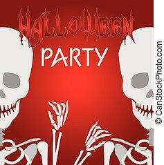 Partido, dia das bruxas, esqueleto, fundo