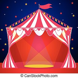 Circus tent show background vector illustration