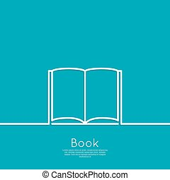 Icon of an open book minimal Outline for web and mobile...