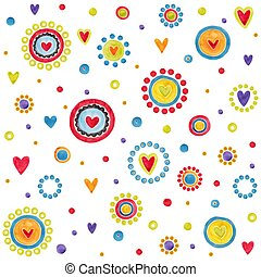 Country style Pattern - Artistic work. Watercolors on paper