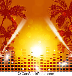 Tropical Music Background - tropica party night pacific...