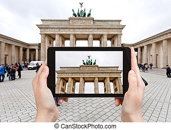 photo of brandenburg gate in Berlin - travel concept -...