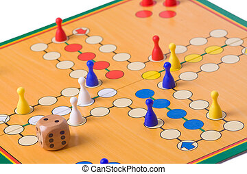 board game with color pawns - the board game with color...