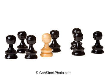 chess - figures of chess on white background