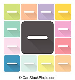 minus Icon color set vector illustration