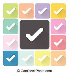 Check mark Icon color set vector illustration