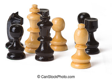 chess - the chess on white background