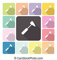 Medical hummer Icon color set vector illustration.