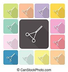 Scissors Icon color set vector illustration
