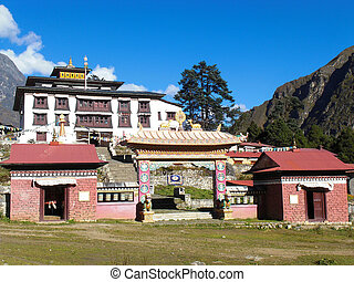 monastery Tengboche, Nepal - Kloster Tengboche, Nepal