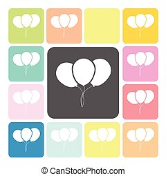 Balloon Icon color set vector illustration