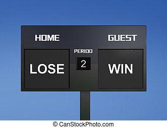 lose win scoreboard
