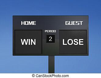 win lose scoreboard