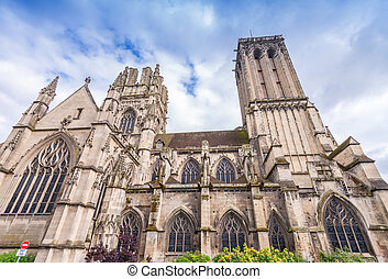 Caen Cathedral Facade.