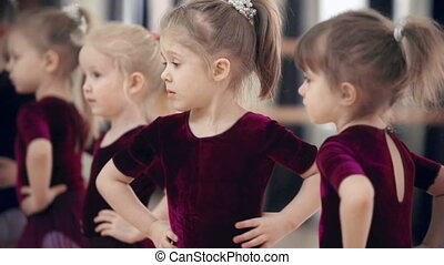 Choreographic Group - Five little girls repeating...