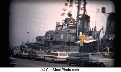 8mm Vintage 1970s Warship Tour - A look at a USA warship...
