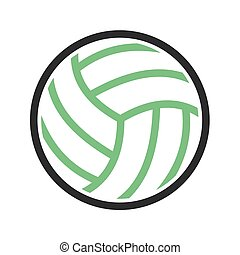 Volley ball, ball, game, match icon vector image. Can also...
