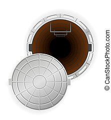 manhole vector illustration