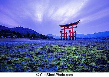 Torii Gate in Japan - Torii Gate off the coast of the island...