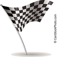 Checkered flag vector - Checkered flag