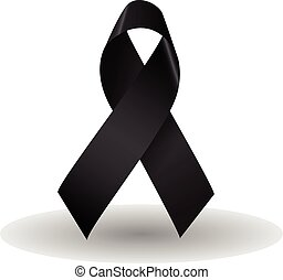 Black ribbon vector - Black ribbon