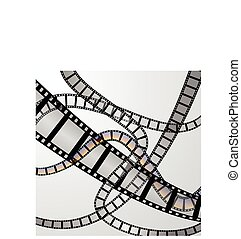 Film strip illustration vector