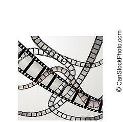 Film strip illustration vector