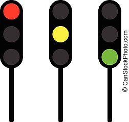 Traffic lights vector - Traffic lights