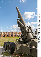 Old weapons - anti-aircraft guns, after war in Croatia - Old...