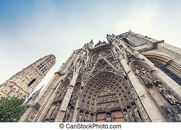 Notre Dame Cathedral, Rouen, France.