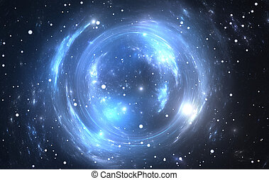 Space background with gravitational lensing
