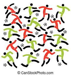 Soccer players background