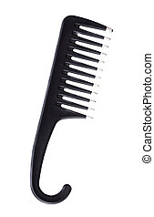 black comb on white background