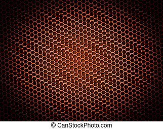 Honeycomb Background Red
