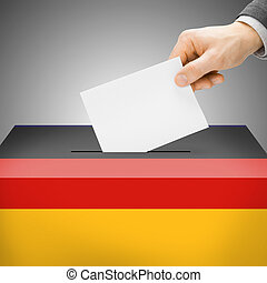 Ballot box painted into national flag - Germany