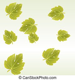 Fig leaves background - Vector background with Fig leaves...