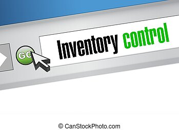 inventory control browser sign concept illustration design...