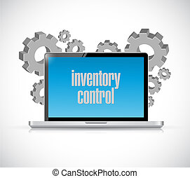 inventory control tech computer sign concept illustration...