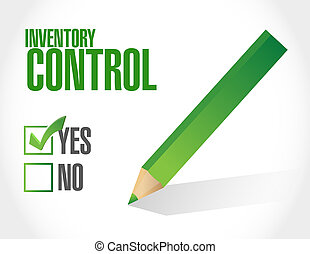 inventory control approval sign concept illustration design...