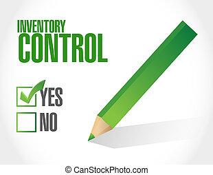 inventario, control, aprobación, señal,...