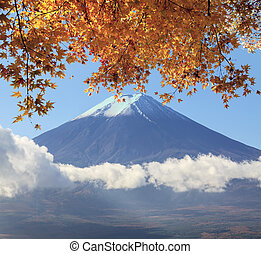 Mt Fuji with fall colors in Japan for adv or others purpose...
