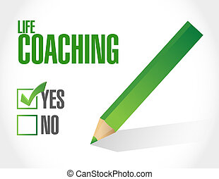 life coaching approval sign concept illustration design over...