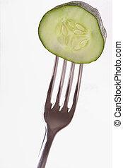 pepino, tenedor