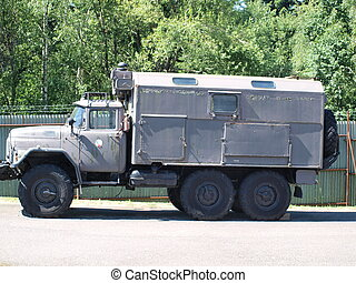 old Russian military truck ZIL