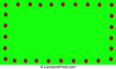 floral decoration element green screen