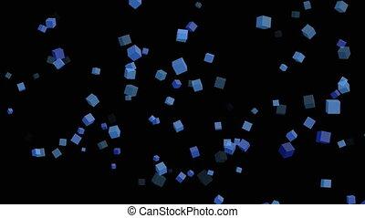 particle cubes 3D background