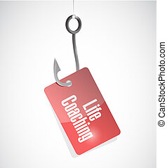 life coaching hook tag sign icon concept