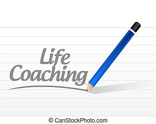 life coaching message sign icon concept
