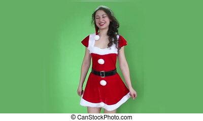 Santa girl turn around